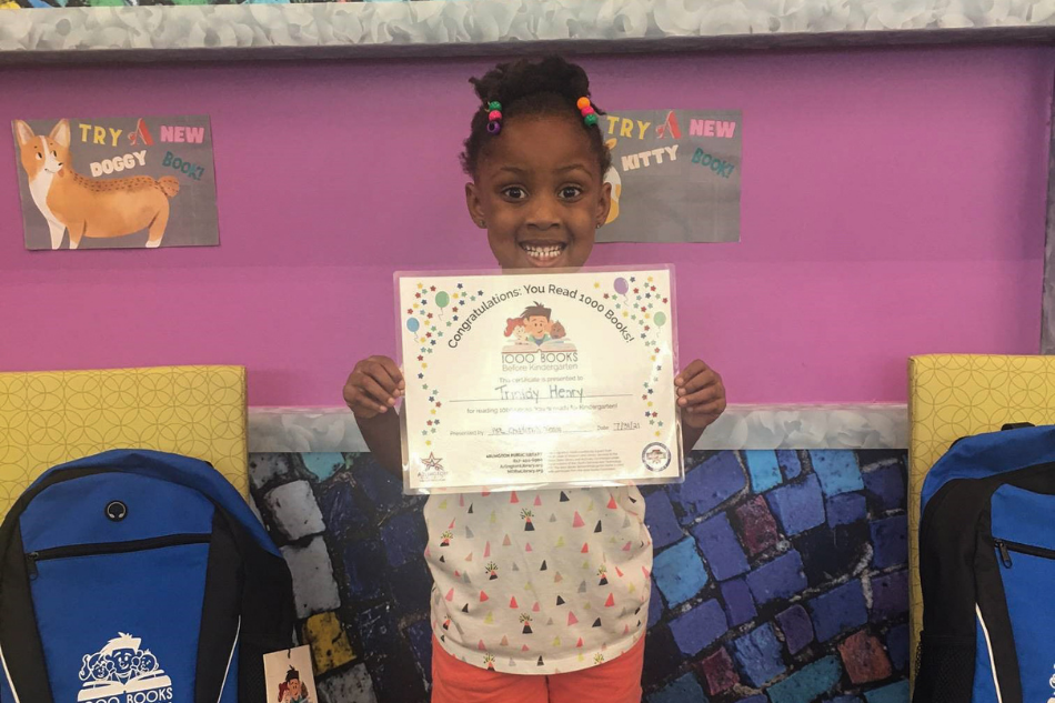 A New Family has Completed The 1,000 Books Before Kindergarten Challenge