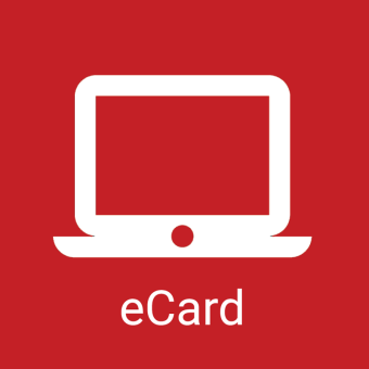 "outline of a laptop with text ""eCard"""
