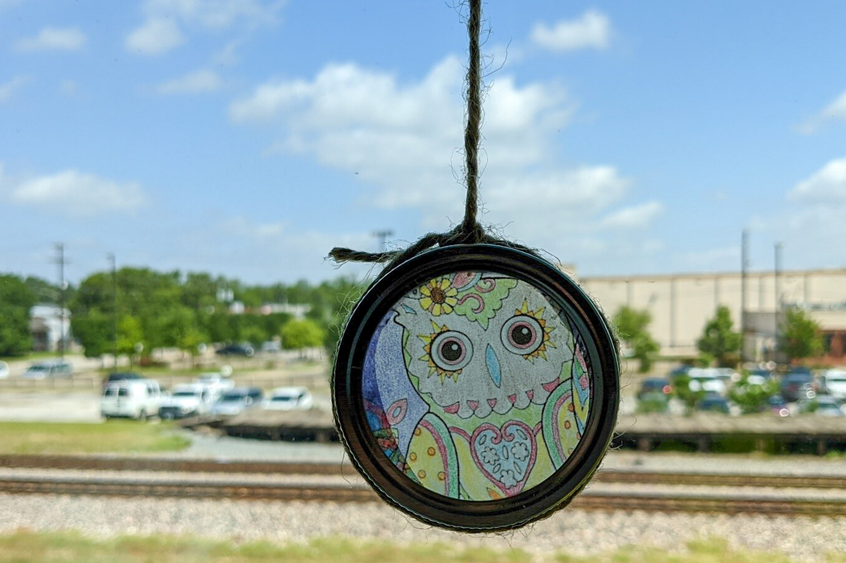 Arts and Crafts: Coloring Sheet Suncatchers