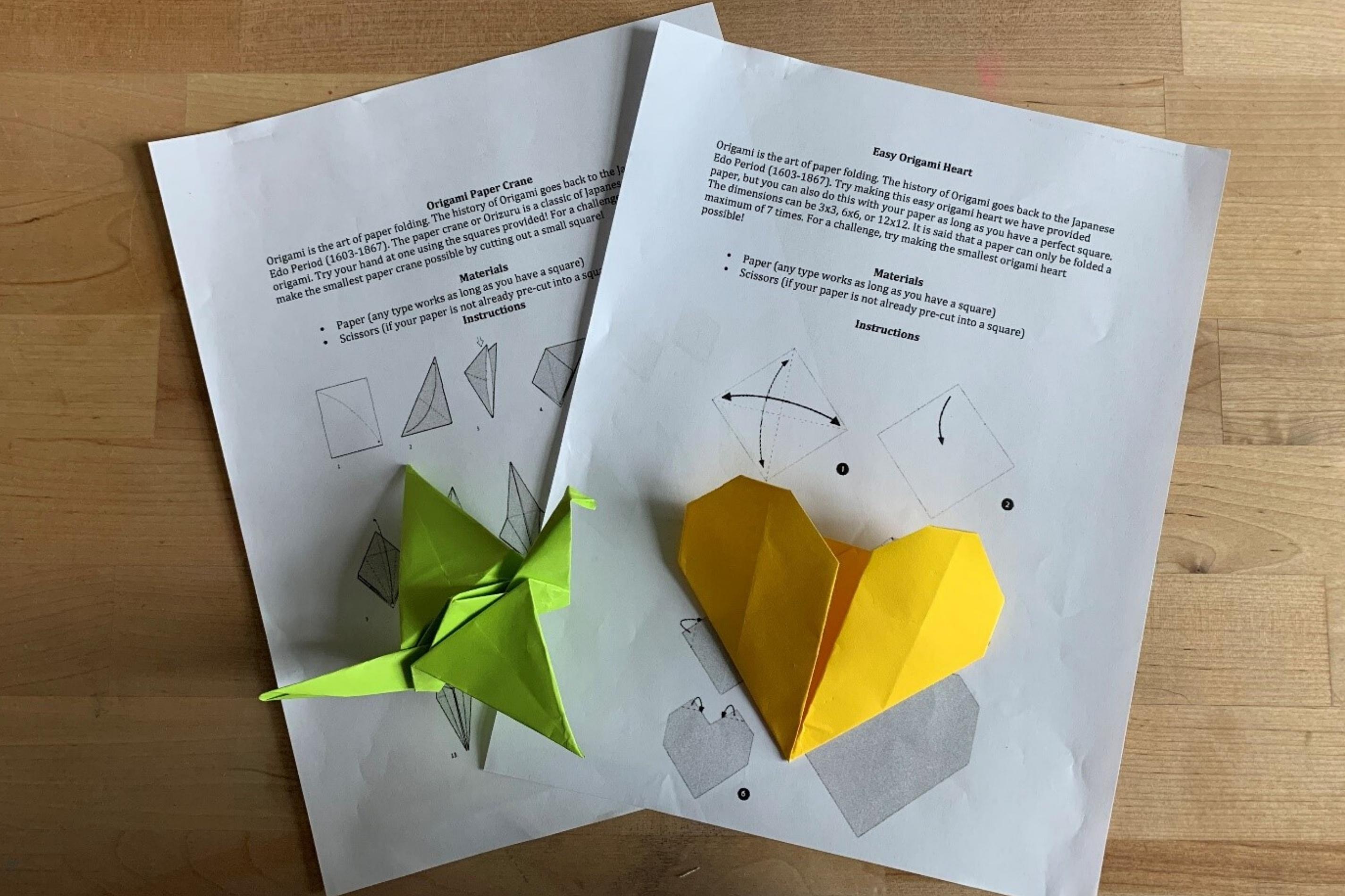 Arts and Crafts: Origami Heart & Paper Crane