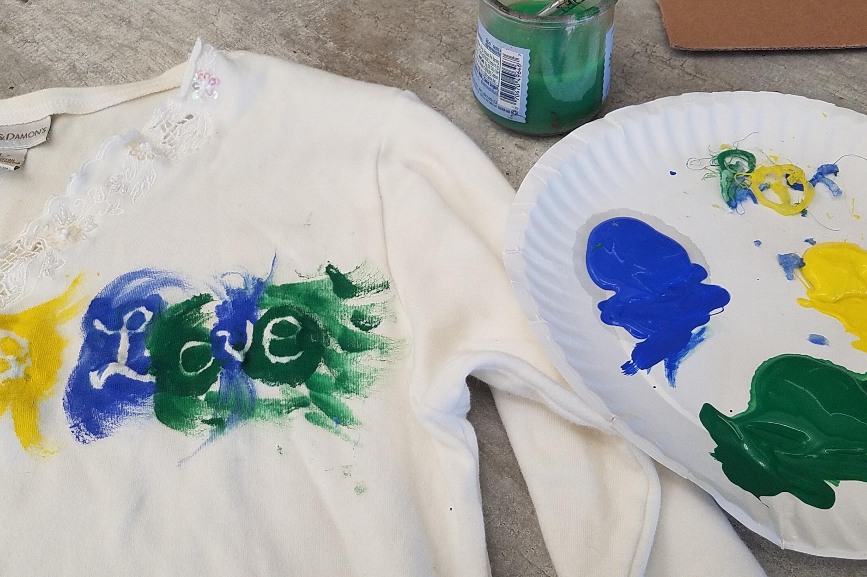 Arts and Crafts: Hot Glue Stencil