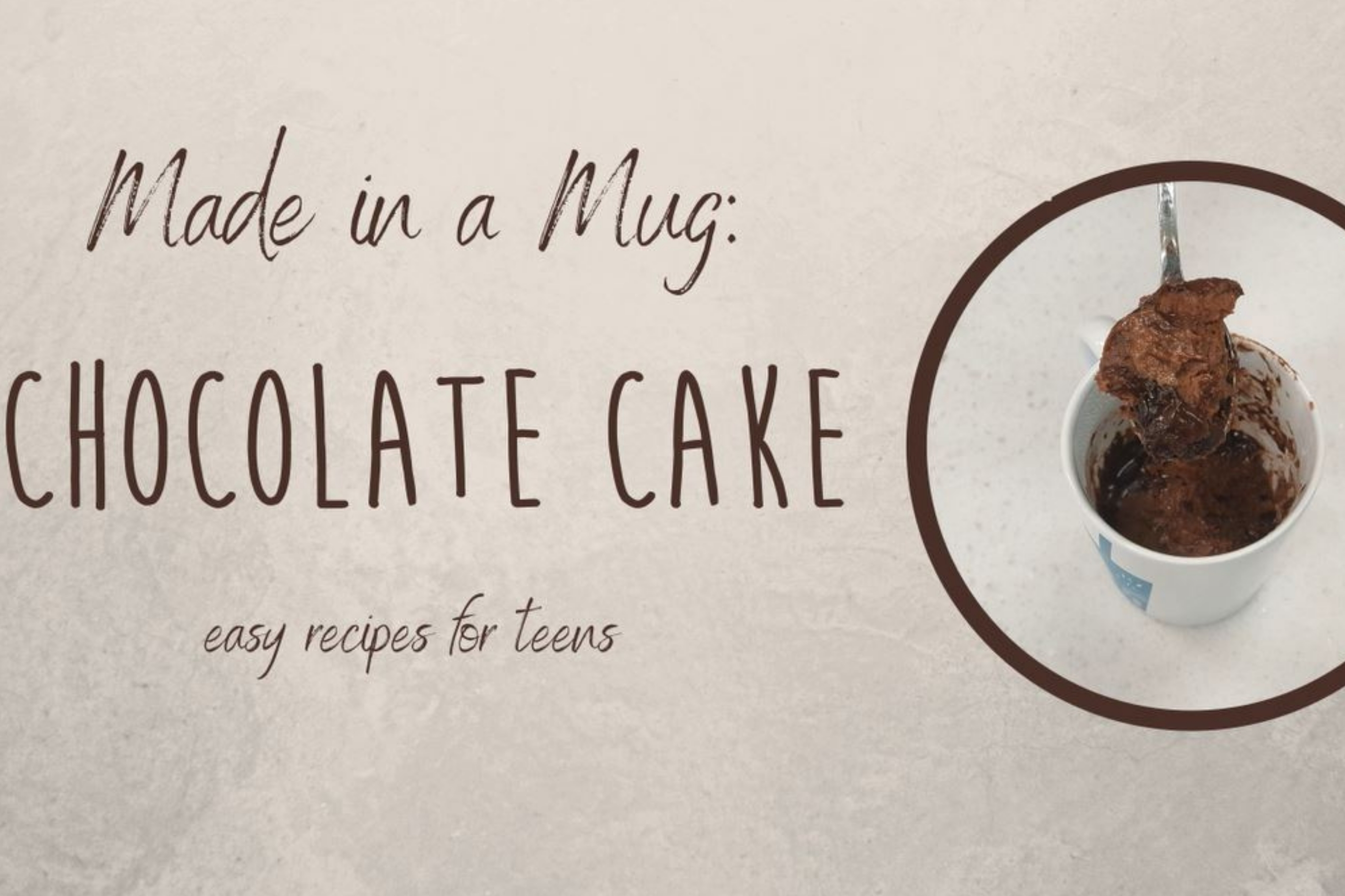 Made in a Mug: Chocolate Cake